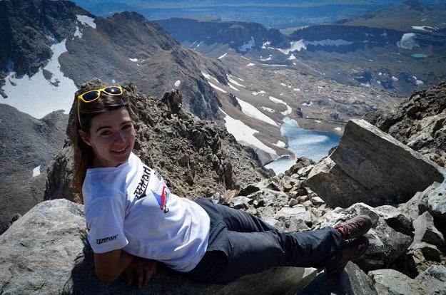 Vrchol hory Middle Teton, středozápad USA